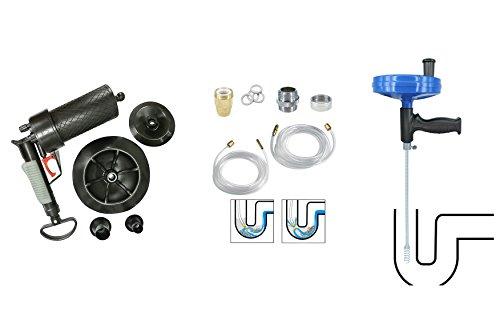 Pressluft Rohrreiniger + Abflussreiniger Set + Rohrreinigungswelle Rohr Reiniger