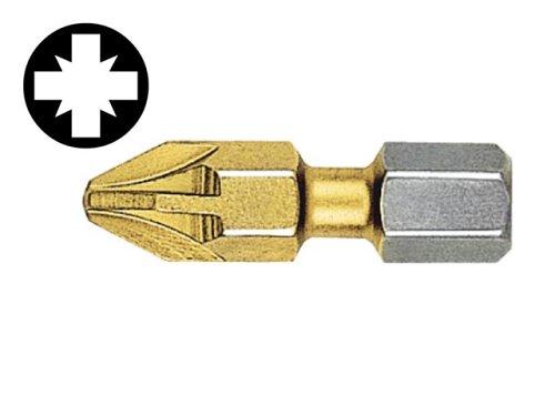 Adapter Insert Bit (Witte Pozidriv 3 Point Titanium Screwdriver Bits (card2) 25 mm)