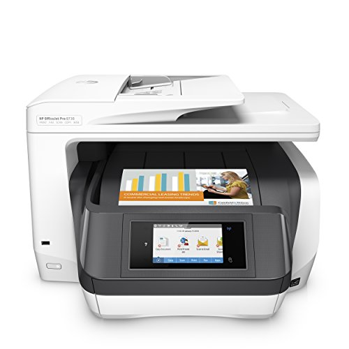 HP OfficeJet Pro 8730 MultifunktionsDrucker (Instant Ink, Drucken, Scannen, Kopieren, Fax, PCL 6, WLAN, LAN, NFC, Duplex, Airprint)