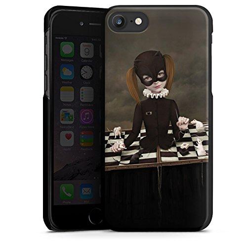 Apple iPhone X Silikon Hülle Case Schutzhülle Schach Maske Mädchen Girl Hard Case schwarz