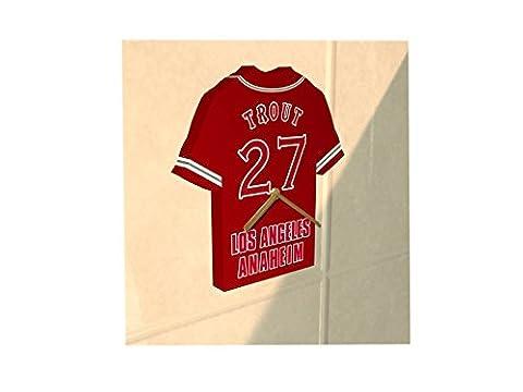 MAJOR LEAGUE BASEBALL - MLB TEAM JERSEY CLOCK - ANY NAME & ANY NUMBER - YOU CHOOSE! (Los Angeles Angels of Anaheim MLB Baseball Jersey)