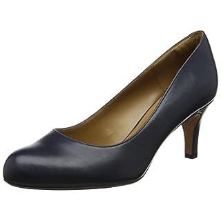 Clarks Damen Arista Abe Pumps, Blau (Navy Leather), 37 EU