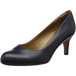 Clarks Damen Arista Abe Pumps, Blau (Navy Leather), 40 EU