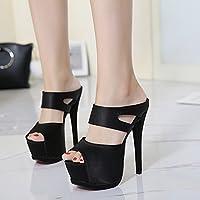 GTVERNH-summer signore i sandali super tacchi i tacchi impermeabilizzare pizzi e a bocca di pesce scarpe 37…
