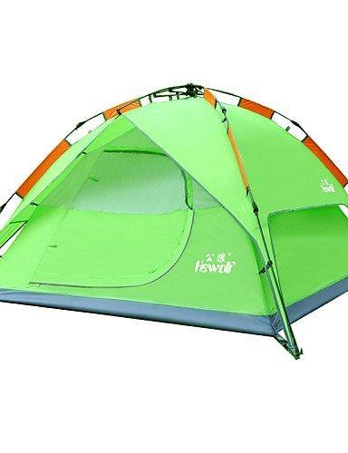 ZQ Militärische Zelt (grün/blau/grün, 3bis 4Personen)–-Feuchtraum/Wasserdicht/Atmungsaktivität/Regen/A-Test, Himmelsblau