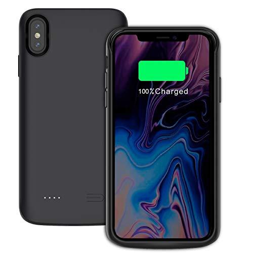 iPhone XS Max Akku Hülle, 3600mAh [Anti-Rutsch] Extra Ersatz Akku Externe Batterie Juice Pack Akkuhülle Backup Powerbank Schutzhülle Ladegerät Hülle Battery Case für iPhone XS Max 6.5