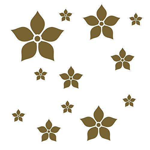 zur Dekoration von Wänden, Glasprodukten, Fliesen und allen anderen glatten Oberflächen (Gold Und Lila Dekorationen)