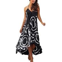 844f9ae3737b BoBoLily Donna Vestiti Lunghi Estivi Eleganti Da Cerimonia Vestito Impero  Collo Halter Alto Basso Vestitini Da