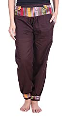Soundarya Womens Cotton Pant (Brown, 39)