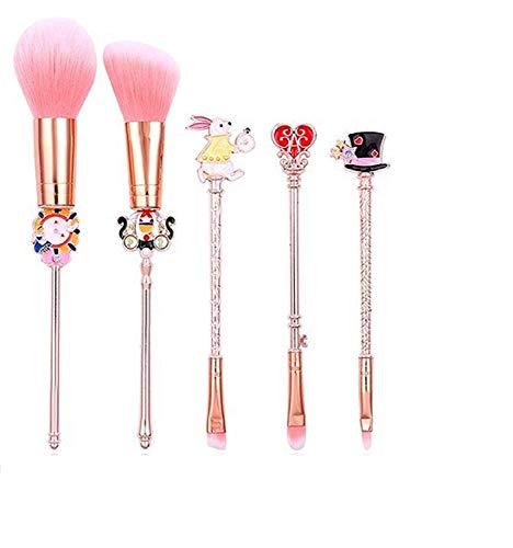 Uteruik Alice im Wunderland Make-up Pinsel Set Foundation Blending Powder Lidschatten Kontur Concealer Erröten Kosmetik Make-up-Tool