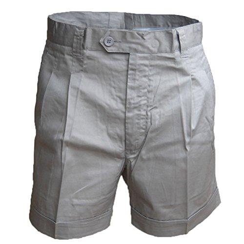 Fratelliditalia bermuda pantaloncino short uomo estivo 100% cotone sportivo mare tasche pesca verde blu beige grigio chiaro grigio scuro (50, grigio chiaro)
