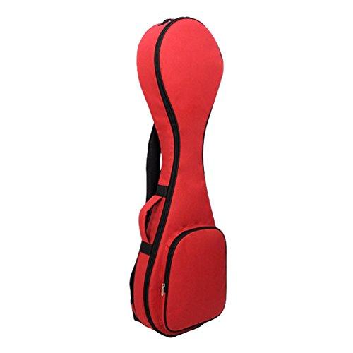 Yujeet Unisex Soft Wasserdichte Gepolsterte Gitarrentasche Konzertgitarre Einfarbig Gitarren Bag Rot