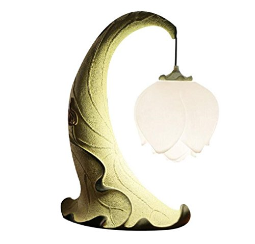 AMZH Lámpara creativa moderna de la tabla de la resina del arte de la lámpara de la lámpara de la sala de estar de la lámpara creativa moderna 220V altos 50cm, anchos 32cm , A
