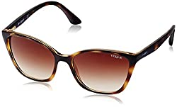 Vogue Gradient Square Womens Sunglasses - (0VO5117SIW6561356|56|Brown Gradient Color)