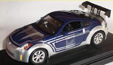 Nissan 350z 350 Z Coupe Lila Silber Fast and the Furious 1/18 Amt Ertl Modellauto Modell Auto SondeRangebot