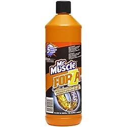 Mr Muscle Forza - Desatascador en gel de efecto inmediato , elimina malos olores y no atasca las tuberías, formato 1 litro
