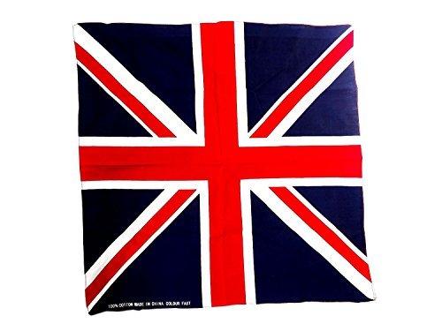 Union Jack Bandana / Bandanna Made from 100% Cotton (55cm x 55cm) by Bandanna (Baumwolle Bandana Servietten)