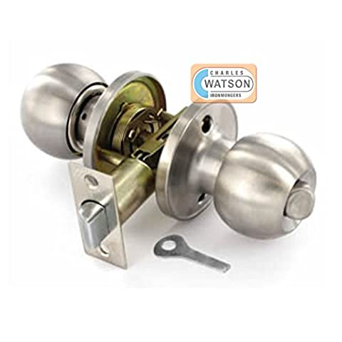 Privacy Door Handle Knob Set – Stainless Steel