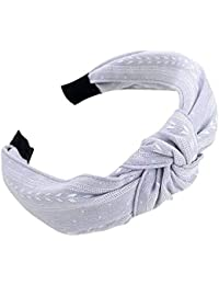 5cc3e60262eeb Xmiral Women Fashion plain Headband Twist Hairband Bow Knot Cross Tie  Headwrap Hair Band Hoop