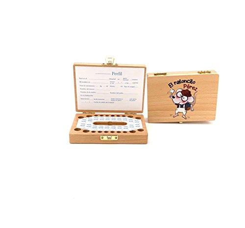 """Caja de madera para guardar los dientes de leche """"El Ratoncito Pérez"""""""