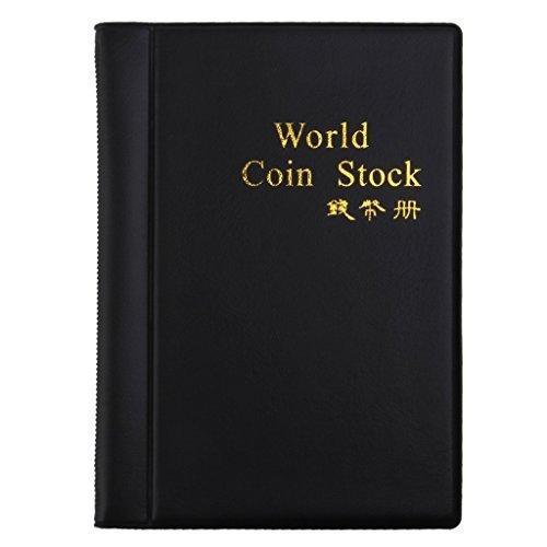 JJOnlineStore-Münze Geld Penny Sammler sammeln Album 120Münzen Aufbewahrung Inhaber Buch schwarz (Penny-münze-inhaber-buch)