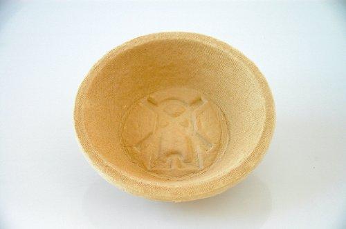 Gärkorb rund aus Holzschliff für Brote bis 1000 g, Ø 22 cm - mit Bodenmuster Mühle (Lebensmittel, Mühlen)