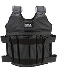 SUTEN Max 50 kg de chargement Poids ajustable Weighted Vest Blouson Gilet d'exercice boxe entrainement Invisible Weightloading sable Vetements (vide)