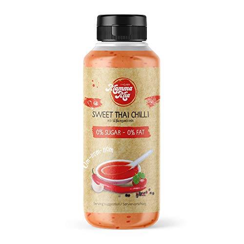Leckere Sweet Thai Chilli Sauce ohne Kalorien für gesundes Kochen   Süße Low Carb Chillisauce ohne Geschmacksverstärker, ohne Zucker & fettfrei   Süß Sauer Chili-Soße scharf von Mamma Mia - 265ml (Süße Chili Sauce Für Huhn)