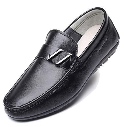 RSHENG Herren Erbsen Schuhe Soft Bottom verschleißfest Fahren Schuhe Handgefertigte Schuhe Ohne Klebstoff Umweltschutz Freizeit Ein Pedal -