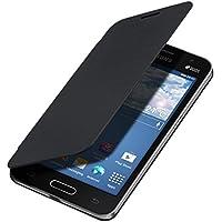 kwmobile Funda potectora práctica y chic FLIP COVER para Samsung Galaxy Core II Duos en negro