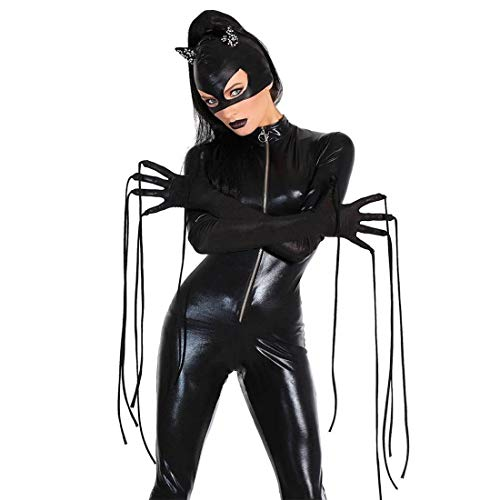 Black Cosplay Cat Kostüm - CoolTing Black Cute Unicorn Black Widow/Catwoman Cosplay Kostüm Frauen Skinny Cat Suit Partykleider Damen Rollenspiel Kostüme sexy Kleid