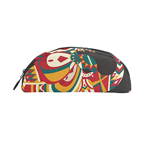 Estuche decorativo para lápices con diseño de elefantes pintados en boho, gran...