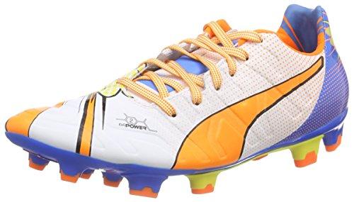 Puma evoPOWER 2.2 POP FG Herren Fu脽ballschuhe Mehrfarbig (white-orange clown fish-electric blue lemonade 01)