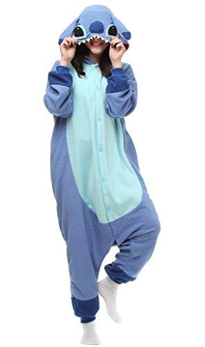 Auspicious Beginning Unisex-Adult Lilo & Stitch Cosplay Stich Karikatur-Schlafanzüge Pyjama Freizeitkleidung Lounge