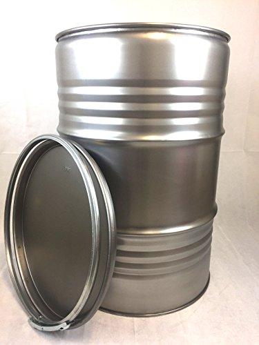 Metallfass 210 Liter Blechfass Fass Ölfass Tonne mit Spannring und Deckel Blank NEU