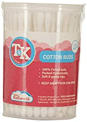 TK Plastic Cotton Swab (100 Pieces, White)