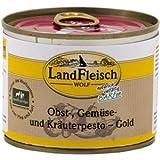 LandFleisch | Wolf Obst-, Gemüse- und Kräuterpesto - Gold | 12 x 200 g