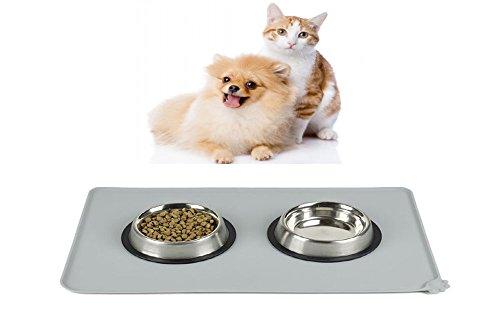 Haustier Futtermatten, AUKO Napfunterlage silikon Matte Platzdeckchen Wasserdicht rutschfest für Hund Katze 47cm*30cm