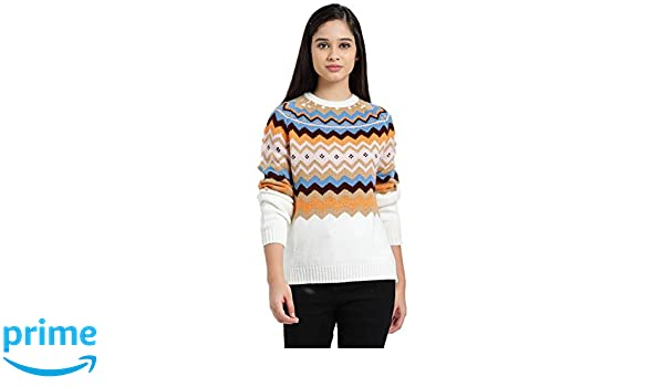 7ca4e654c Zink London Multi-Coloured Polyester Aztec Design Raglan Sweater Top for  Women  Amazon.in  Clothing   Accessories