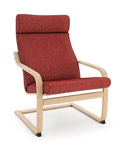 Masters of Covers - Housse de rechange de fauteuil Poäng d'Ikea, Coton Polyester, Tetron Cotton -...