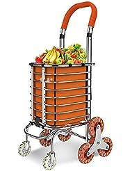 XYLUCKY Chariot d'achat médical d'aluminium pour chariot à grande capacité 8 roues , b