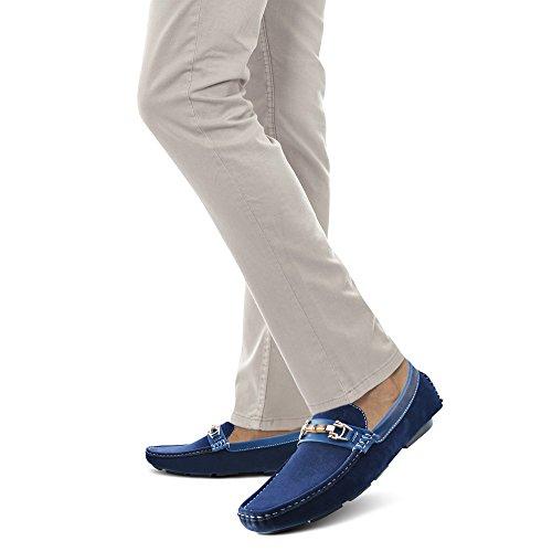Suede Xelay Blue uomo Blue uomo uomo mocassini mocassini Suede Blue mocassini Xelay Xelay rrXq7