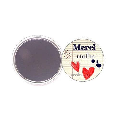 Joyeux Noel Ma/îtresse magnet 56mm id/ées cadeaux Ma/îtresse Ecole Noel