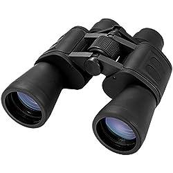 Prismáticos 10x50 - Visión Nítida Luminosa/Campo Amplio/Excelente Óptica - Binoculares para Naturaleza Aves Astronomía, Negro