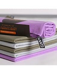 JUNQL& toalla de microfibra seco1pc 31 * 75 cm de absorción rápida de la piscina de agua estupendo toallas linea de accesorios de deporte al aire . light grey