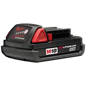 Milwaukee M18B M18 1.5Ah Lithium-Ion Battery - Red