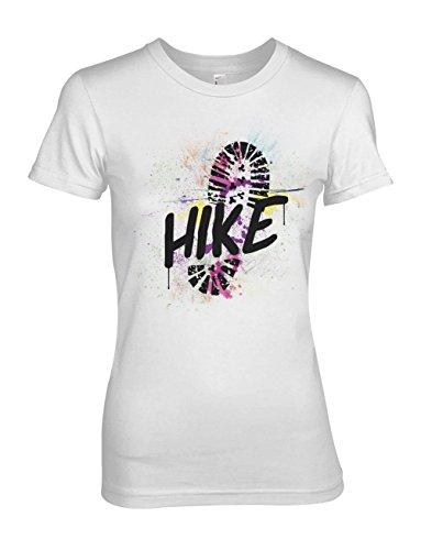Hike Travel Traveler Explorer Damen T-Shirt Weiß