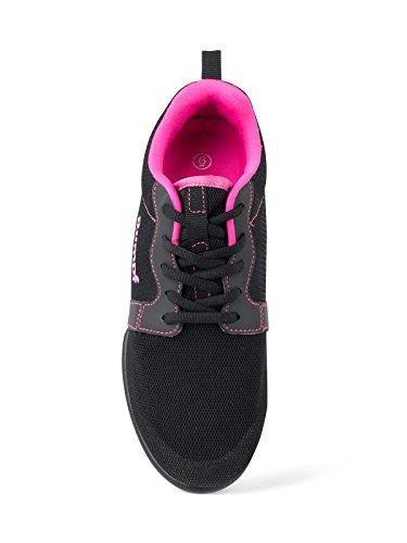 1510 Rumpf Mojo Dancesneaker Sneaker Chaussures De Danse Hip Lindy Hop Gymnastique Entraînement Aerobic Noir / Rose Noir / Rose