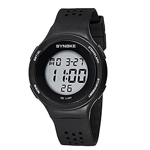 Mode LED Digital Watch Hommes Femmes Sport Montre bracelet Top Marque Famous Homme Femme Horloge Digital Digital Watch , black