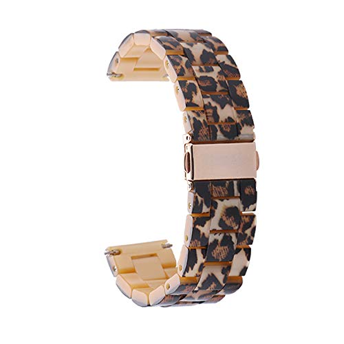 WAOTIER für Apple Watch 42mm Armband Acetate Ersatzarmband Retro Armband für Apple Watch Series 3 Series 4 mit Edelstahl Verschluss Kompatibel iWatch 42mm für Frauen Männer (Muster B)